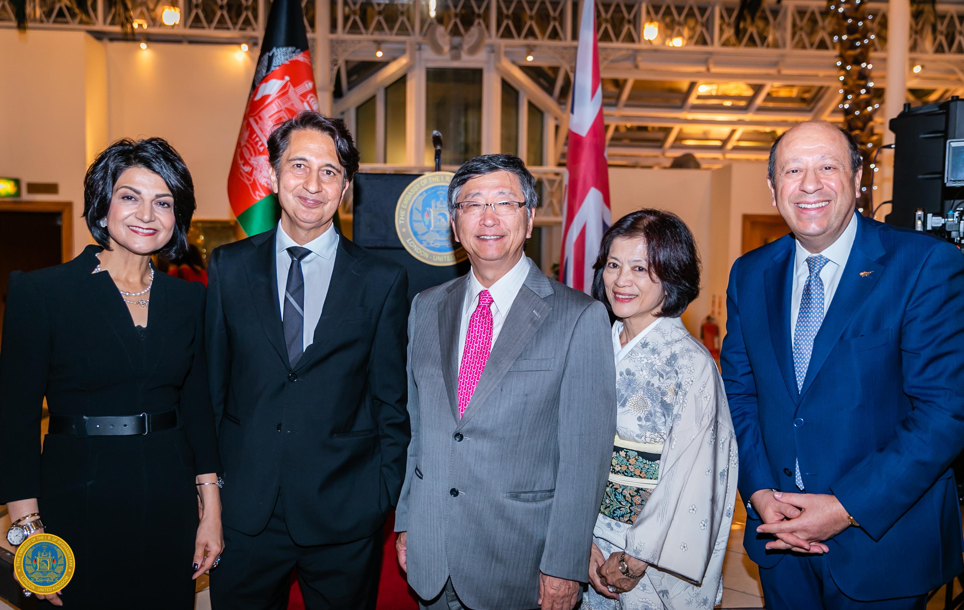 7 - Ambassador Jawad and Shamim Jawad w_ the Ambassadors of Japan and Cyprus
