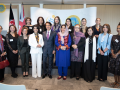 H.E Ambassador Said T. Jawad and Mrs Jawad with leading Afghan women journalists and media professional