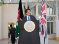 H.E Ambassador Said T. Jawad's addressing the reception at Millennium Gloucester Hotel