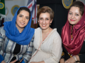 The Embassy's Second Secretary Homaira Dashti and Executive Assistant Gazal Gailani with Panellist Farahnaz Forotan