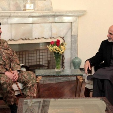 President Ghani Receives Pakistan Chief of Army Staff