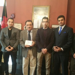 Ambassador Yaar meets members of the Afghan Global Forum and International Association of Afghan Lawyers.