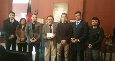 Ambassador Yaar meets members of the Afghan Global Forum and International Association of Afghan Lawyers.