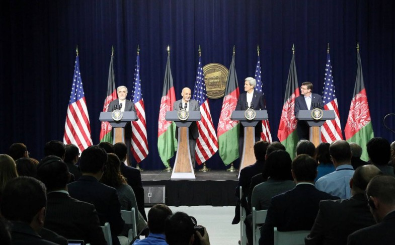 Afghan and US Delegations hold Working Meetings at Camp David