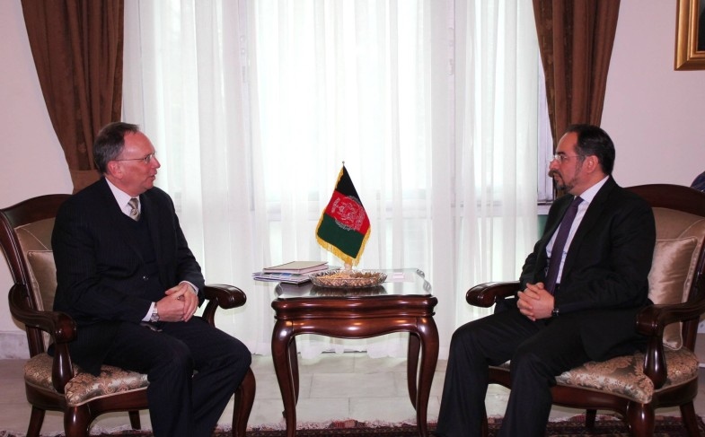 Minister of Foreign Affairs Meets World Bank Representative for Afghanistan