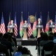 Transcript of the joint press conference at Camp David, Maryland