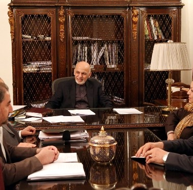 President Ghani Chairs Meeting to Discuss Ways to boost Taqnin Capacity in Justice Ministry