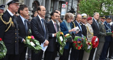 """Afghan Embassy Laid Wreath at the Cenotaph Memorial to mark """"The International Day of United- Nations Peacekeepers"""""""