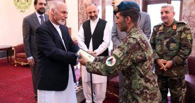 President Ghani Honored Sgt. Eessa Khan