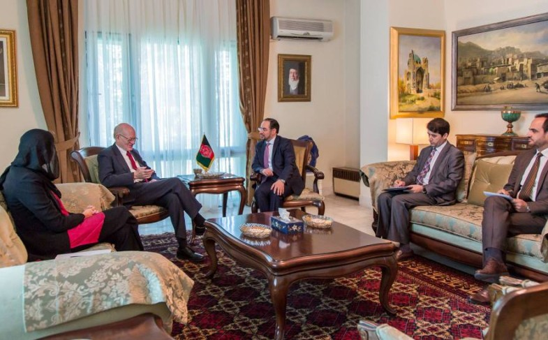 Minister of Foreign Affairs Meets Former Ambassador of the United States to Kabul