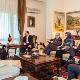 Foreign Minister Meets the Ambassador of People's Republic of China to Kabul